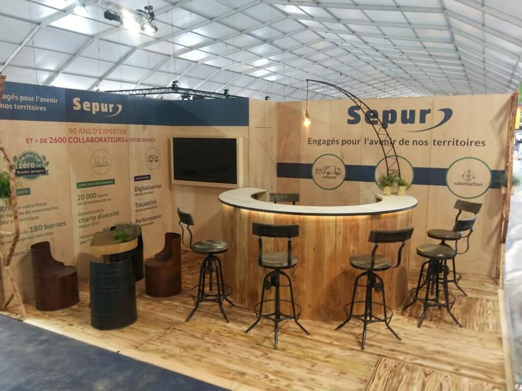 SEPUR - Création du stand 2020