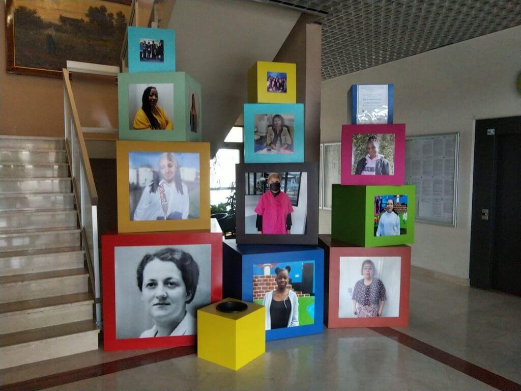 Chennevières sur Marne - Création scénograpique sur le thème de la Journée de la Femme 2021