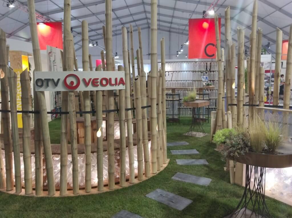 2019 Création du stand de la société OTV VEOLIA pour le salon Espace Collectivité
